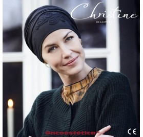 SHAKTI BLACK - Turbante Bambú Bordado - CHRISTINE HEADWEAR