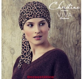 KARLA-V ANIMAL PRINT - Pañuelo Cintas Largas - CHRISTINE HEADWEAR