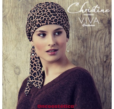 EDITH-V ANIMAL PRINT - Gorro + Banda - CHRISTINE HEADWEAR