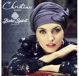 SAPPHIRE AZUL - Turbante + Cinta Larga - CHRISTINE HEADWEAR
