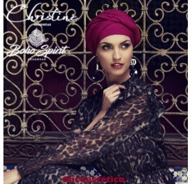 SAPPHIRE BURDEOS - Turbante + Cinta Larga - CHRISTINE HEADWEAR