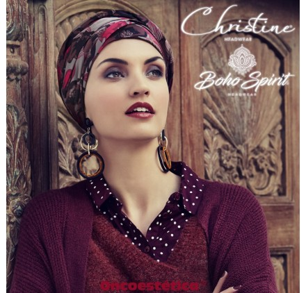SAPPHIRE PINK FLOWER - Turbante + Cinta Larga - CHRISTINE HEADWEAR