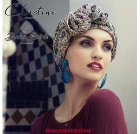 SAPPHIRE MARROCCAN FEELING - Turbante + Cinta Larga - CHRISTINE HEADWEAR