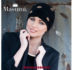 DIAMOND BLACK GOLDEN SHELL - Turbante Algodón - MASUMI HEADWEAR