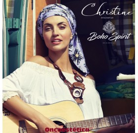 SAPPHIRE ZEBRA FLOWERS - Turbante + Cinta Larga - CHRISTINE HEADWEAR