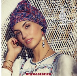 SAPPHIRE EXOTIC PALMS - Turbante + Cinta Larga - CHRISTINE HEADWEAR