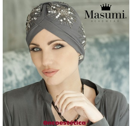 GEM CRYSTAL GREY - Turbante Algodón - MASUMI HEADWEAR