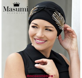 CAROLINA BLACK LAUREL CROWN - Gorro Algodón + Cinta - MASUMI HEADWEAR