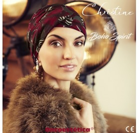 SAPPHIRE HOSTA LEAVES - Turbante + Cinta Larga - CHRISTINE HEADWEAR