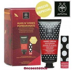 APIVITA PACK HUGS N' KISSES POMEGRANATE - Crema de Manos + Labial