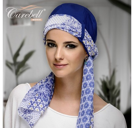 TWIN CHIC AZUL - Base + Foulard Algodón - CAREBELL