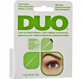 ADHESIVO CEJAS Y PESTAÑAS DUO BRUSH-ON CLEAR