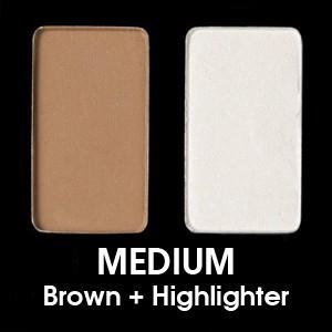 Medium - Medio (Brown + Highlighter)