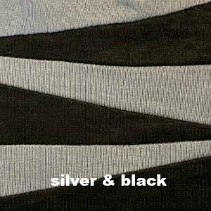 Grey silver & black